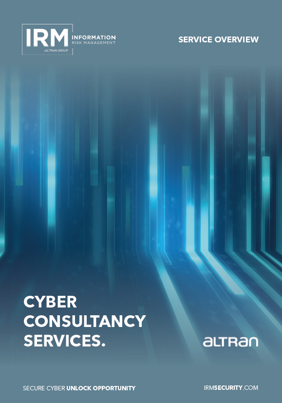 Cyber Consultancy Services Brochure Front Cover