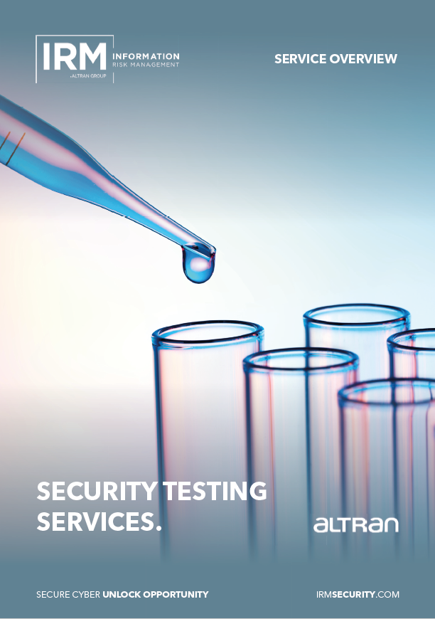 Security Testing Brochure Front Cover