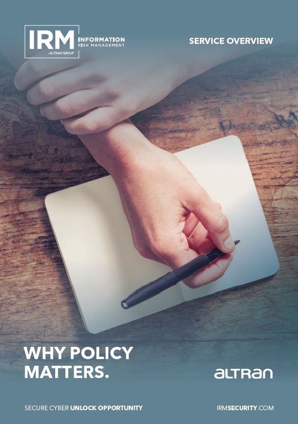 Policy Set brochure front cover