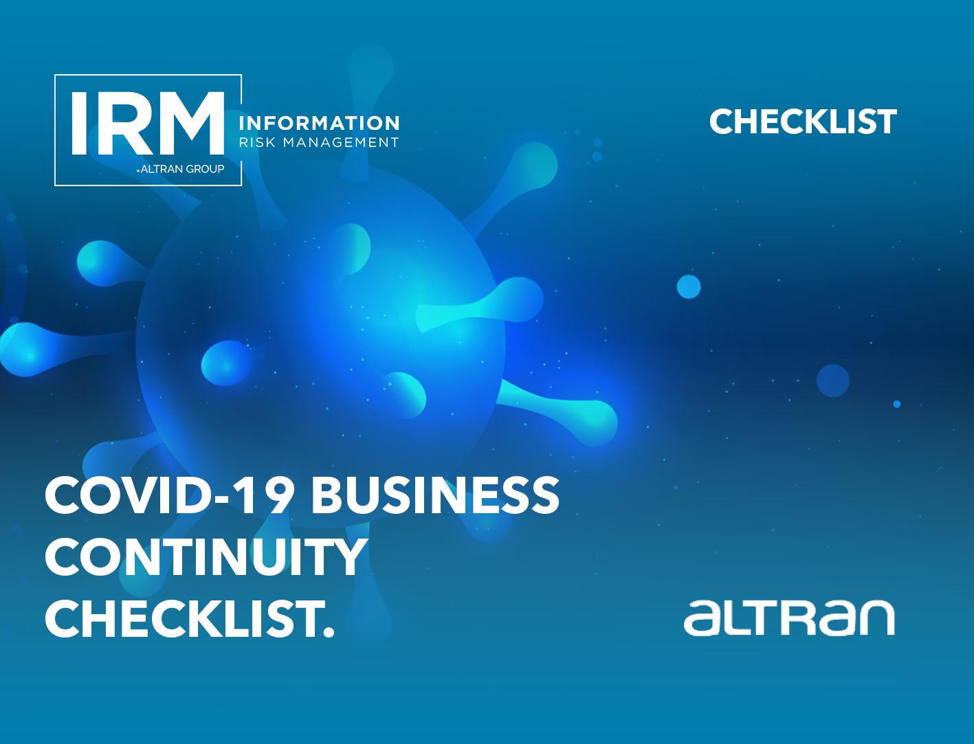COVID-19 Business Continuity Checklist