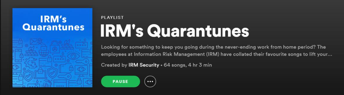 IRM Quarantunes Playlist